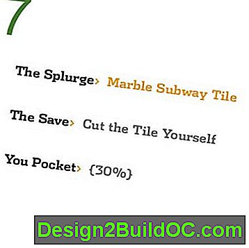 Save While You Splurge: Marble Subway Tile