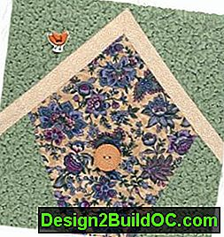 Bird House Quilted Wall Hanging Pattern: wall