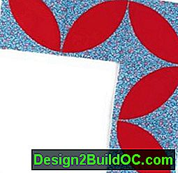 Block Leaf Quilt Border Pattern: leaf