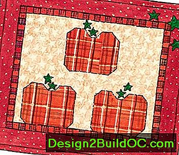 Country Pumpkin Patch Quilted Wall Hanging