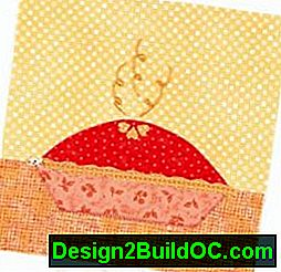 Cutie Pie Quilted Table Runner Pattern: cutie