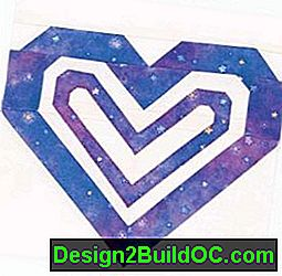 Double Heart Quilt Block: block