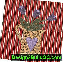 Heart Can Quilt Block: blocco