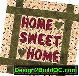 Home Sweet Home Quilt Block: home