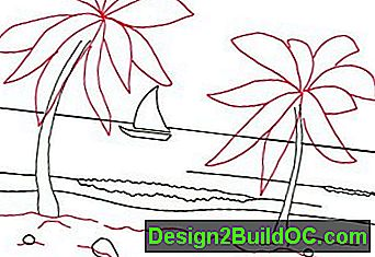 Kako Draw Tropical Beach Scene v 5 korakov: beach
