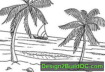 Kako Draw Tropical Beach Scene v 5 korakov: tropical