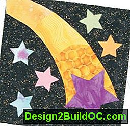 Shooting Star Quilt Block: block