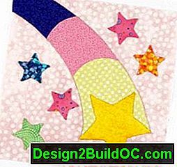 Shooting Star Quilt Block: quilt