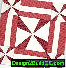 Twirling Quilted Table Runner Pattern: pattern