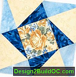 Twisted Star Quilt Block: star