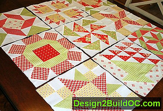 Apple Pie Quilt Block - Lifestyle