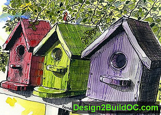 Bird House Quilted Wall Hanging Pattern - Lifestyle