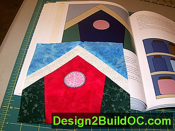 Birdhouse Treasure Quilt Block - Lifestyle