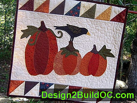 Country Pumpkin Patch Quilted Wall Vise Pattern - Življenjski slog