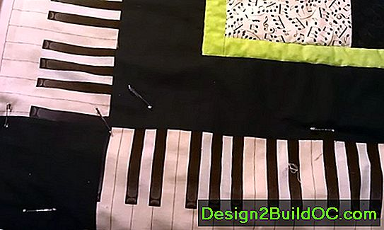Piano Keys Quilt Border Pattern