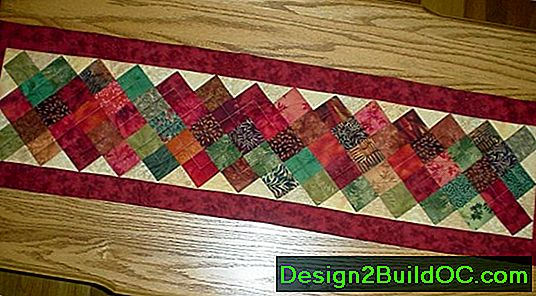 Twirling Quilted Table Runner Pattern