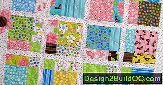 Quilt Block Four Corner Flowers